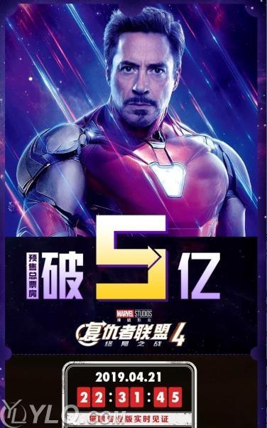 《复联4》预售破5亿!宣发耗资2亿美元,中国票房无法超《战狼2》